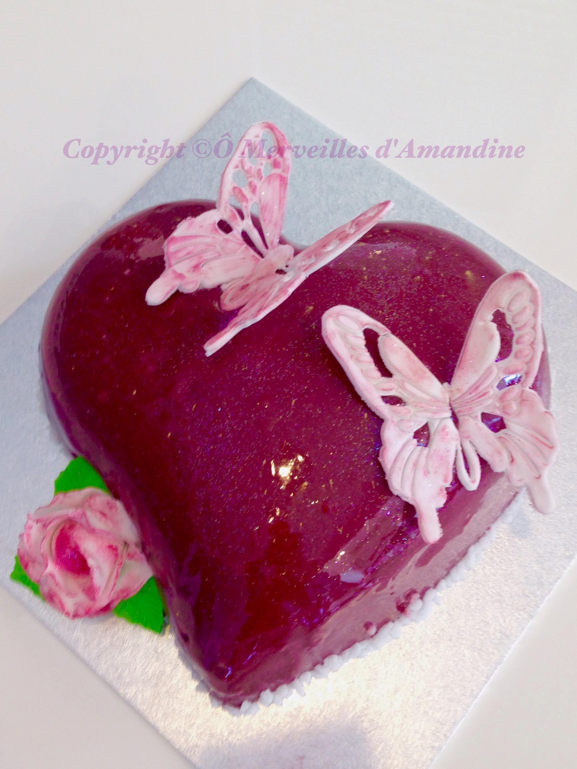 Les b g teaux merveilles d 39 amandine for Miroir framboise